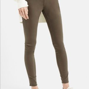 Topshop Moto Leigh Olive Jeans